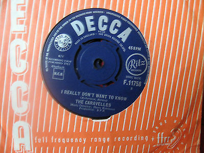 """The Caravelles 1963 """"i Really Don't Want To Know  """" Decca F.11758"""