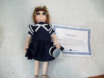 "Royalton Collection ""At The Beach"" 10"" Bisque Porcelain Hand-Painted Doll"