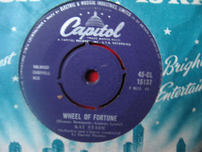 """Kay Starr 1960  """" Wheel Of Fortune """" Capital Cl 15137"""