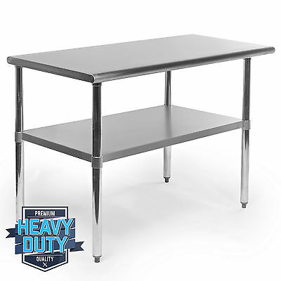 """Stainless Steel Commercial Kitchen Work Food Prep Table - 24"""" x 48"""""""
