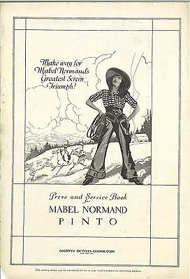 *PINTO (1920) Mabel Normand Silent Film Western Comedy Pressbook