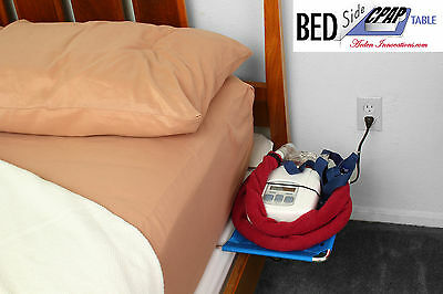 BEDSIDE CPAP TABLE- HOME OR TRAVEL- PORTABLE CPAP/BiPAP/ SLEEP APNEA ACCESSORY