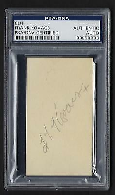 Frank Kovacs autographed card PSA Authenticated 1940s-50s Tennis