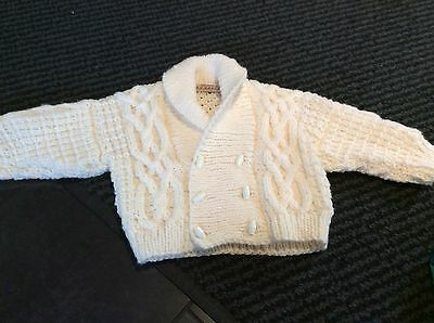 BEAUTIFUL HAND KNITTED BABY CARDGAIN AGE 3/6 mths