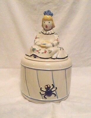 Vintage Regal China-- Little Miss Muffet Cookie Jar--EXCELLENT CONDITION