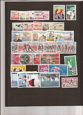 Congo (Various Entities-Plus)  48 Olympics Stamps