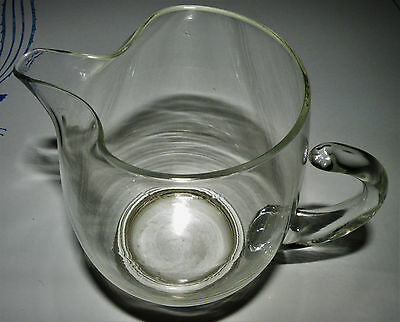Beautiful Vintage Wallace Sterling and Crystal Glass Pitcher Sterling U-15 6.5""