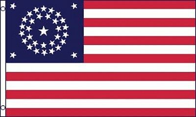 34 Stars American Flag Historical United States Banner USA Pennant 3x5 Outdoor