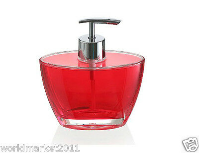 New Acrylic Red Manual Control Hand Sanitizer Machine Soap Dispenser &$