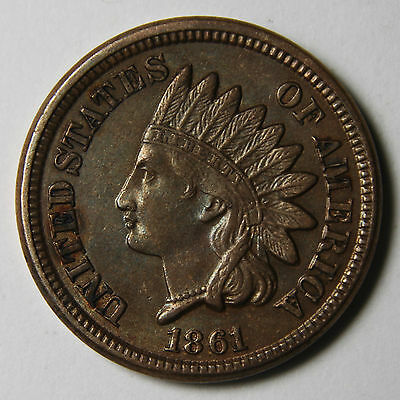 1861 One Cent Indian Head Penny Coin Lot# MZ 3921