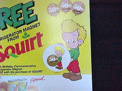 Large Squirt Soda Store Poster For Refrigerator Magnet Premium