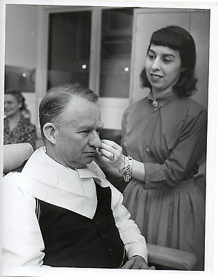 """g271. Rare Photo 1947 CBS-TV """"We Take Your Word"""" Host Dr. Lyman Bryson in Makeup"""