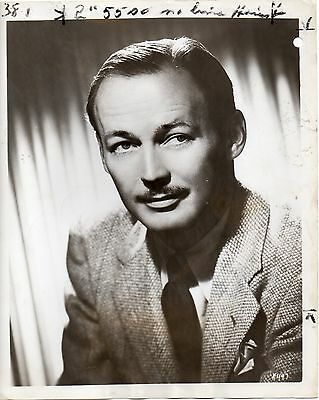 """g256. Original 1947 CBS-TV Photo """"Queen for a Day"""" Emcee Jack Bailey File Copy"""