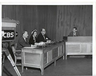 """g265. Rare Photo 1947 CBS-TV """"We Take Your Word"""" Hosts Bryson & Burrows"""