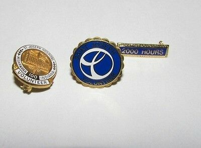 St Joseph Hospital Mishawaka Indiana Volunteer Service Award Pins GF 100 Hours