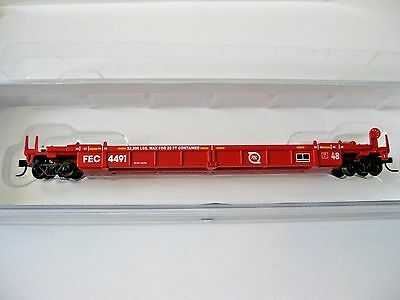 Walthers N #929-8004 FEC Thrall Stand-Alone 48' Well Car #FEC 4491 N-Scale