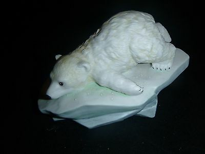 Porcelain 1990 Maruri Polar Expedition Polar Bear Cub Studio Design P-9003
