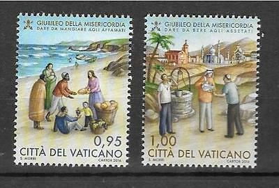 Vatican 2016 Jubilee of Mercy MNH Set Issued February 1
