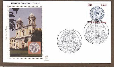 Vatican 2001 Guiseppe Toniolo Institute for Higher Studies  SC # 1196 FDC