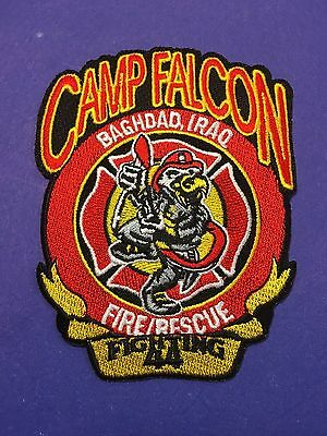 Camp Falcon Baghdad Iraq Fire Rescue  Shoulder Patch