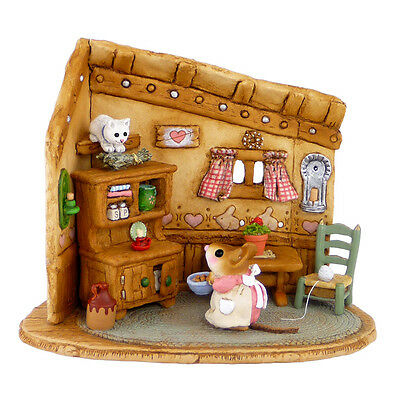 COAXING KITTY WITH KIBBLE by Wee Forest Folk, WFF # M-480 PINK Mouse