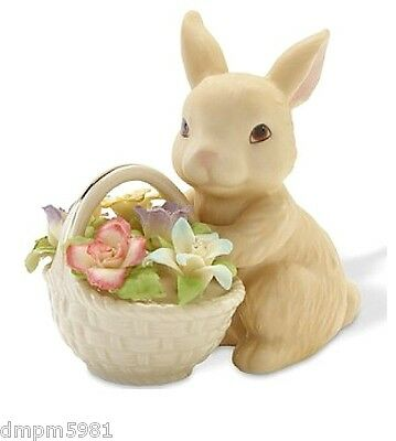 Lenox Bunny's Easter Basket of Flowers Figurine BRAND NEW IN BOX!