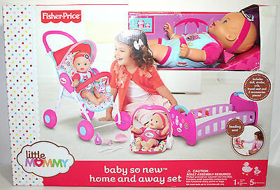 Baby So New Home & Away Crib Stroller Carrier Baby Doll Little Mommy NEW