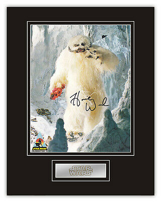 •Sale• Star Wars Harold 'Howie' Weed (Wampa) Signed 14x11 Display RARE!