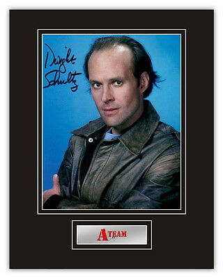 •Sale• The A-Team Dwight Schultz ('Howling Mad' Murdock) Signed 14x11 Display