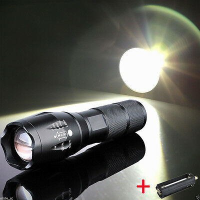 New 15000Lumen LED 18650/AAA Flashlight Zoomable Torch Focus Flashlight Lamp HD