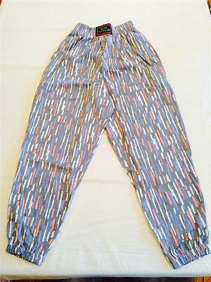 """VINTAGE 80s * 90s """"Dare to Wear"""" Baggy Faded Red White Blue Hipster Pants MED"""