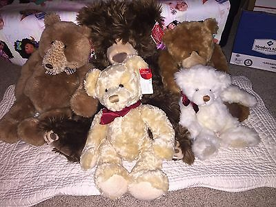 "Russ Gund Spencer Snoodles Ribbons Ewan Brandy Bear  Plush 14"" Lot Tags Collect"