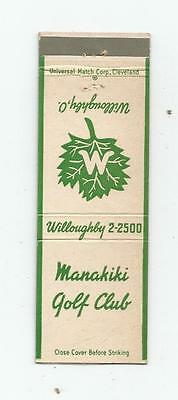 Manakiki Golf Club  Matchcover  Willoughby, O.