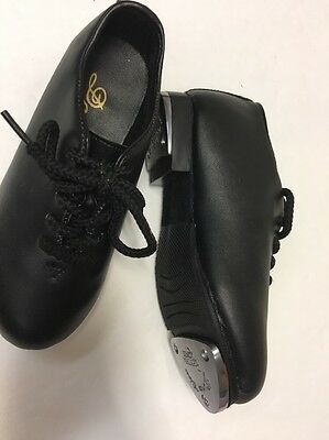 DANCE CLASS RYTHM TONES GIRL'S Black TAP SHOES SIZE 10.5 Youth