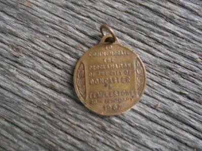 1967 medallion badge Proclamation of the City of Doncaster and Templestowe Vic