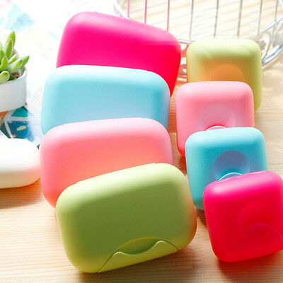 Bathroom Shower Soap Dish Box Buckle Case Holder Container Travel Outdoor Hiking