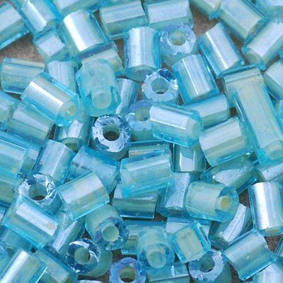 1600pcs aqua yolky czech glass TUBE beads 11/0=2m spacer long craft embroidery