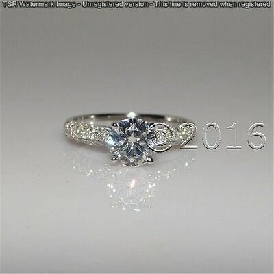 Fairy 1.89 CT Off White Yellow Real Moissanite Ring Wedding 925 Silver Ring A00