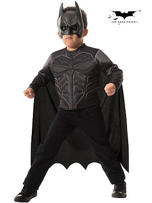 Kids Batman Dark Knight Muscle Chest Shirt Set Fancy Dress Costume - Small