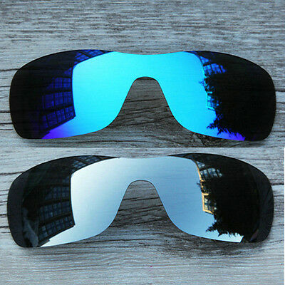 Inew Polarized Replacement Lenses for-Oakley Antix Ice Blue&Silver