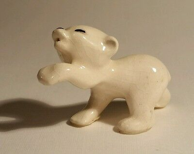 Hagen Renaker miniature Baby Polar Bear Cub Piano Retired