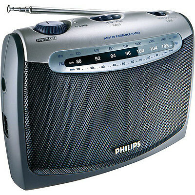 Philips Ae2160 Portable Fm Am Radio Ac Mains & Battery Headphone Jack New