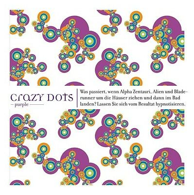 "Top Textil Duschvorhang  ""Crazy Dots"" purple  ""A&L"""