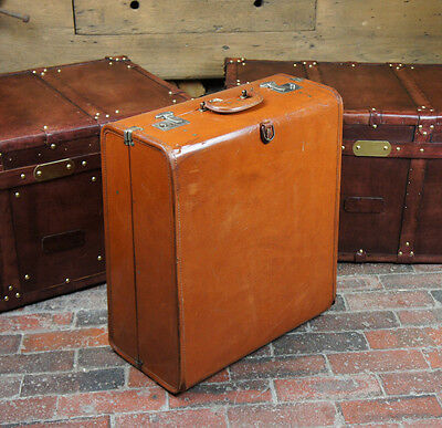 Vintage Leather Rev Robe Suitcase Wardrobe Trunk