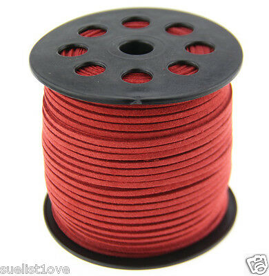 new 10ya 3mm red Suede Leather String Jewelry Making Thread Cords hot