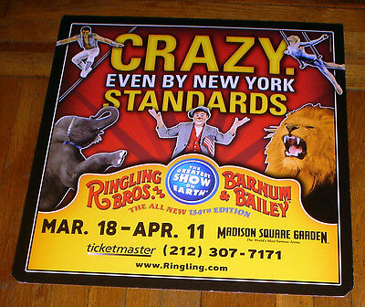 RINGLING BROS old CIRCUS 134 POSTER  SUBWAY POSTER madison square garden