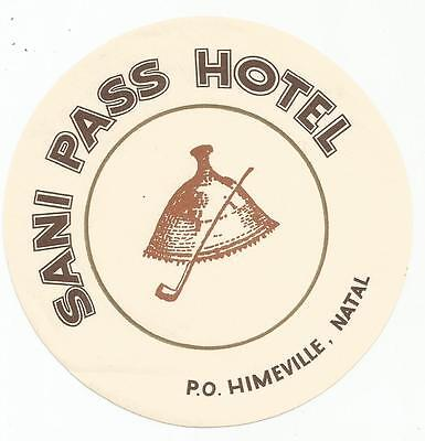 HOTEL SANI PASS luggage SOUTH AFRICA label (NATAL)