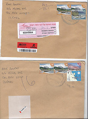 Argentina ,2 Nice ,air Registered   Covers To Israel, 2014