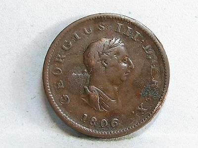 George Iii Copper Halfpenny Coin Dated 1806 (7)