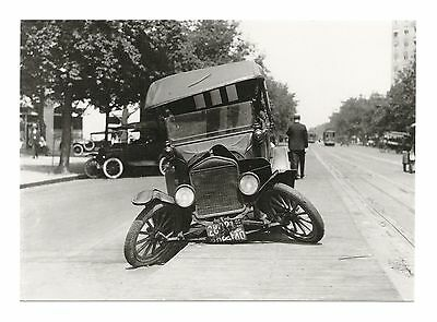 Model T Ford Automobile Involved In 1922 Car Crash In Washington, Usa - Postcard